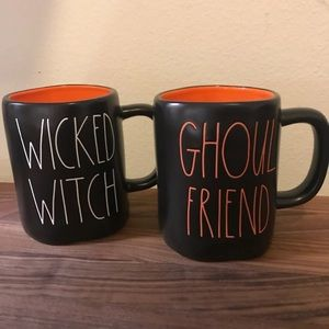 Rae Dunn wicked witch & ghoul friend mug set